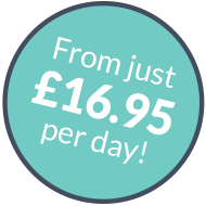 From just £16.95 per day!